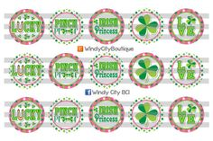 Patrick's Day Bottle Cap Images Light by WindyCityBoutique Bottle Cap Jewelry, Bottle Cap Magnets, Hairbow Center, Thing 1, Cut Image, Hole Punch, Printed Materials, St Patricks Day, My Images