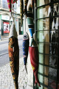 Whimsical Lisbon Art: sardines.