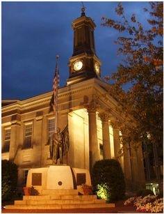 The old Chester County Court House at night -- We were married there!!