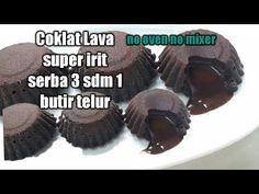 Resep Coklat Lava Super Irit No Oven No mixer Lava Cakes, Oreo, Mixer, Snacks, Youtube, Brownies, Meal, Cookies, Recipe