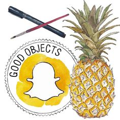 Good objects - Last hours to see the pineapple tutorial on snapchat!  goodobjects - How to draw and paint a pineapple step by step #goodobjects #illustration #watercolor