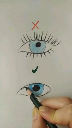 Cool Pencil Drawings, Cute Easy Drawings, Art Drawings Sketches Simple, Art Drawings Beautiful, Doodle Drawings, Drawing Ideas, Eyelashes Drawing, Diy Canvas Art, Art Tutorials