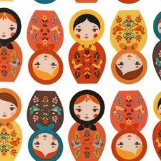 Suzanne Ultman - Little Kukla - Little Kukla in Retro  This fabric is adorable!