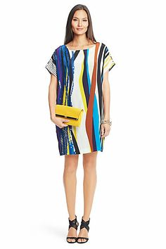 Dvf Tania u002ftori Striped Dresses On Sale Tania Embellished Silk Tunic