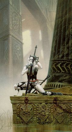 I think this Elric art was done by Michael Whelan but I can't remember.