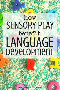 Best Toys 4 Toddlers - All the ways sensory play benefit language development wi. Best Toys 4 Toddlers - All the ways sensory play benefit language development with babies, toddlers and older kids, Language Activities, Sensory Activities, Infant Activities, Sensory Play, Preschool Activities, Sensory Bins, Preschool Education, Teaching Kindergarten, Play Therapy Activities