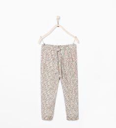 LOOSE - FIT PRINTED TROUSERS - Leggings & Trousers - Girl (3 - 14 years) - KIDS | ZARA United Kingdom
