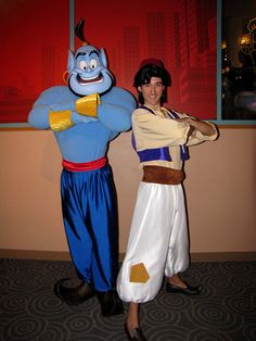 Aladdin and Genie by disneylori, via Flickr