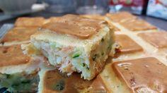 Cake courgette, chèvre frais et truite fumée - Popote de petit_bohnium