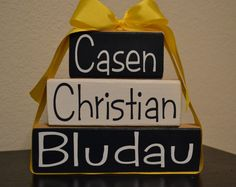 Personalized Baby Name Stacker by southernaccentdesign on Etsy, $18.95