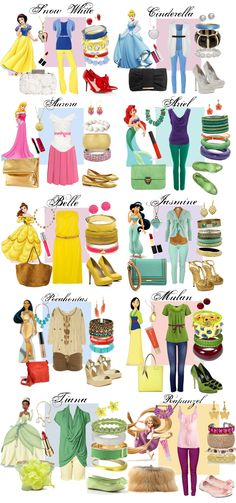 For The Casual Princess Look. Ask Ally what her most favorite princesses are (only 4-5) and get similar casual child appropriate outfits.
