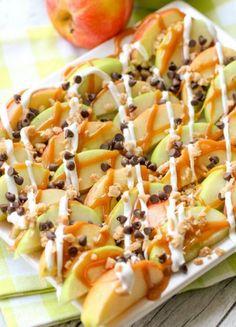 Knackige Apfel-Nachos