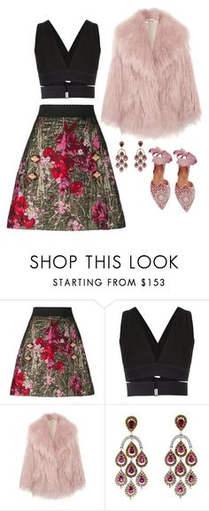 """CUTE OUTFIT"" by gretacozzi ❤ liked on Polyvore featuring Dolce&Gabbana, Osklen, Miu Miu and Aquazzura"
