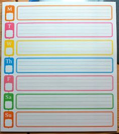 Giant Post It Notes to organize your week!