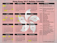 Hong Kong 2017   2018 Holiday Calendar Excel Calendar, Printable Blank Calendar, Cute Calendar, School Calendar, Yearly Calendar, 2019 Calendar, Calendar Ideas, 2018 Holiday Calendar, March Holidays