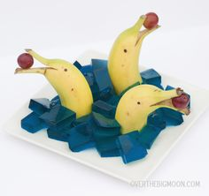 Ocean Themed food idea - Mother Hen Summer Survival Guide - I've got to make these cute Banana Dolphins with my kids!