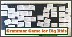 This game is a hit every time I use it in class. There are few ways to teach grammar and have it really stick. This is one of them. The ...