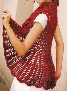 Chaleco circular crochet cardigan