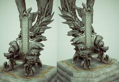 花瓣网- Throne – ACeye & Desmera - Page 2 - Polycount Forum Fantasy City, Fantasy House, Fantasy Map, Fantasy Background, Throne Room, Prop Design, Environment Concept Art, Fantasy Inspiration, Environmental Art