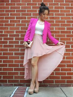 Blogger Sensible Stylista in a Deb Shops crop top and wedges