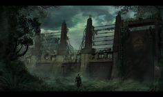 Jurassic Park: Raptor fences, Travis  Lacey on ArtStation at https://www.artstation.com/artwork/jurassic-park-raptor-fences