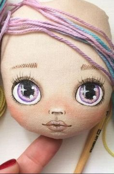 Doll Face Paint, Sock Crafts, Cute Polymer Clay, Fabric Toys, Dress Up Dolls, Doll Maker, Soft Dolls, Big Eyes, Doll Toys