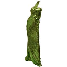 ac9b90e64 F/W 2004 TOM FORD for GUCCI GREEN SEQUINNED GOWN | See more vintage Evening