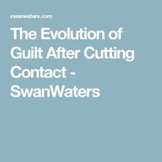 Guilt is an emotion but one survivors of abuse are intimately familiar with. The experience of abuse is -among other things- the world biggest guilt trip Parallel Parenting, Guilt Trips, Evolution