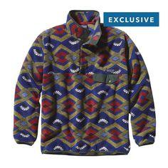Patagonia Men\u2019s Synchilla\u00AE Snap-T\u00AE Fleece Pullover - Slowfoot: Cobalt Blue SFCB
