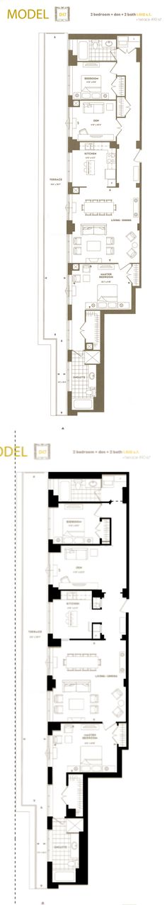 3 bedroom condo floor plans google search home for Barn apartment floor plans