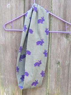 Toddler infinity scarf Easter bunny scarf   by HappyScarvesByLesya