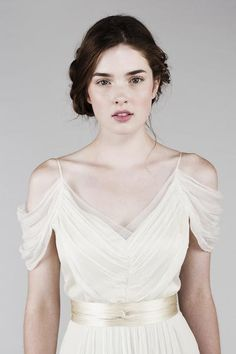Ethereal Wedding Dress is truly romantic. It's perfect for the brides searching for the outdoor wedding dresses, destination wedding dresses, alternative wedding dresses, non traditional wedding dresses, and ethereal wedding dresses. Ethereal Wedding Dress, Outdoor Wedding Dress, Wedding Dress Chiffon, Wedding Gowns, Silk Chiffon, Wedding 2015, Silk Organza, Bridal Gown, Grecian Dress