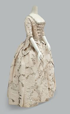 Wedding dress, 1747 (altered 1770's), English.
