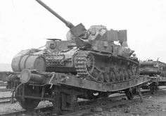 Late version of a Pz.Kpfw. IV destroyed in an air attack