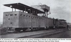"""WW1EAfricaCampaign on Twitter: """"This armoured train- SIMBA was used between Mackinnon rd & Sultan Hamud during #WW1.(Photo courtesy of kaiserscross) http://t.co/cYuzpGBeK3"""""""