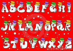 Christmas Alphabet, Calendar, Lettering, Holiday Decor, Fonts, Character, Image, Designer Fonts, Types Of Font Styles