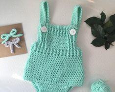 CROCHET PATTERN - Crochet Baby Romper Pattern - Little Dreamer - Instant…