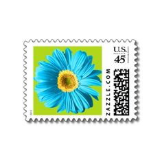 colorful floral stamp