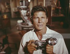 Photo d'actualité : Portrait of American actor Charles Bronson as he...