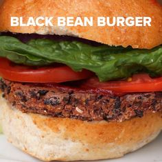 Black Bean & Roasted Red Pepper Veggie Burgers Recipe by Tasty