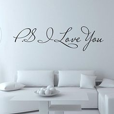 Datework I Love You Removable Art Wall Stickers * Click image to review more details.Note:It is affiliate link to Amazon.