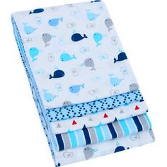 NEW 4-Pack Receiving Blankets Baby Boys Infants Flannel Swaddling Set Cotton