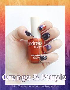 http://nessabyvanessaribeiro.blogspot.pt/2013/09/nails-orange-purple.html
