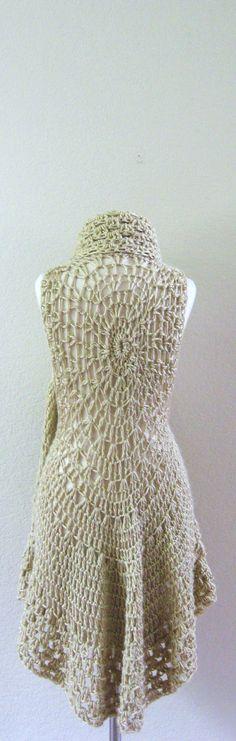 FASHION CREAM VEST Gift Gilet Creme Fashion Women by marianavail, $65.00