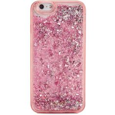 ban.do Pink Stardust Glitter Bomb iPhone 6/6S Case ($28) ❤ liked on Polyvore featuring accessories, tech accessories, phone, case, phone cases, phonecase and pink stardust