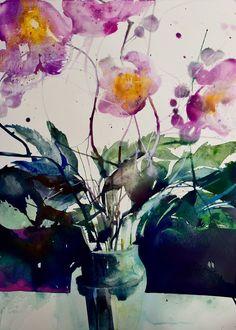 Цветочные акварели Elke Memmler: «Она собирает впечатления, настроения и воспоминания» - Ярмарка Мастеров - ручная работа, handmade
