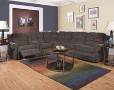 "Rent Furniture England ""Novak Black Pearl"" Sleeper Sectional and Reclining Loveseat   RentACenter.com"