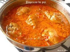 » Papricas de puiCulorile din Farfurie Romanian Food, Yummy Food, Tasty, Curry, Cake, Ethnic Recipes, Album, Mariana, Curries