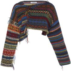 This **Tuinch** Cropped Multi Sweater features an asymmetrical hem and a fringe detail on the seam. Looks Hippie, Mode Alternative, Cool Outfits, Fashion Outfits, Fashion Tips, Creation Couture, Look Vintage, Hippie Outfits, Hippie Style Clothing