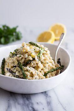 Lemony Mascarpone and Asparagus Pasta